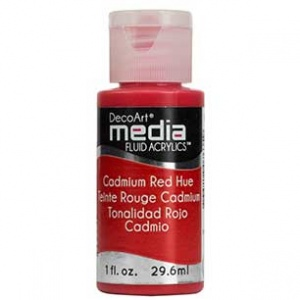 DecoArt Media Fluid Acrylic Paint - Cadmium Red Hue