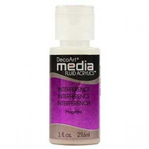 DecoArt Media Fluid Acrylic Paint - Magenta Interference