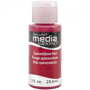DecoArt Media Fluid Acrylic Paint - Quinacridone Red