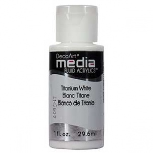 DecoArt Media Fluid Acrylic Paint - Titanium White