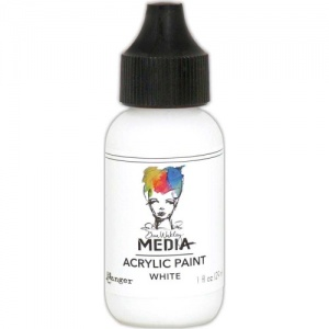 Dina Wakley Media Heavy Body Acrylic Paint - White - 1oz