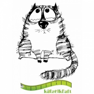 Katzelkraft Unmounted Rubber Stamp - Les Gros Chats 01 - SOLO72