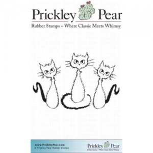 Prickley Pear Cling Mounted Stamp - Three Fraidy Cats