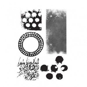 Dina Wakley Media Cling Mount Stamp Set - Textures