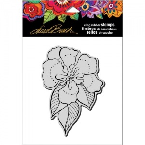STAMPENDOUS! Laurel Burch Cling Rubber Stamp - Flora