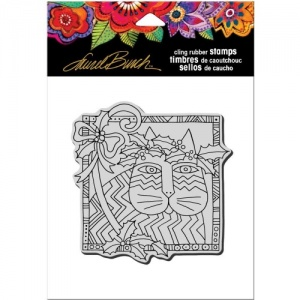 STAMPENDOUS! Laurel Burch Cling Rubber Stamp - Holly Cat