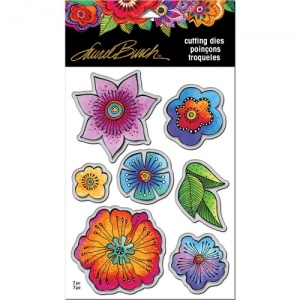 STAMPENDOUS! Laurel Burch Die Set - Blossoms