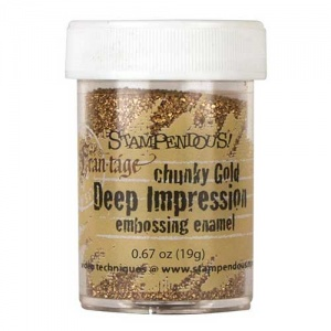 Stampendous Deep Impressions Embossing Enamel - Chunky Gold