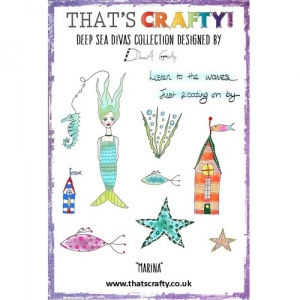 That's Crafty! Clear Stamp Set - Deep Sea Divas Collection - Marina