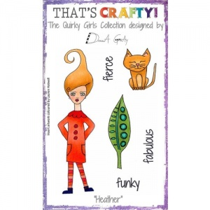 That's Crafty! Clear Stamp Set - The Quirky Girls Collection - Heather