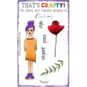 That's Crafty! Clear Stamp Set - The Quirky Girls Collection - Penny