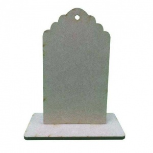 That's Crafty! Surfaces Dinky MDF Uprights - Scalloped Tag - Pack of 5