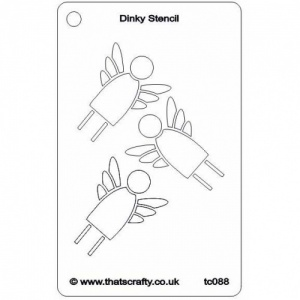 That's Crafty! Dinky Stencil - Angels - TC088