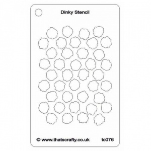 That's Crafty! Dinky Stencil - Bubble Wrap - TC076