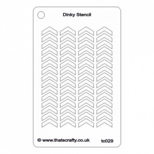 That's Crafty! Dinky Stencil - Chevrons Background - TC029