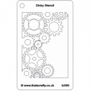 That's Crafty! Dinky Stencil - Cogs - TC090