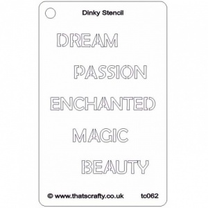 That's Crafty! Dinky Stencil - Enchanted - TC062