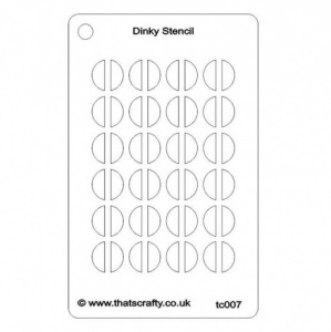 That's Crafty! Dinky Stencil - Half Circles Background - TC007