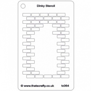 That's Crafty! Dinky Stencil - Hole in the Wall Repeat - TC064