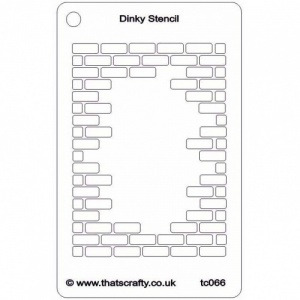 That's Crafty! Dinky Stencil - Hole in the Wall - TC066