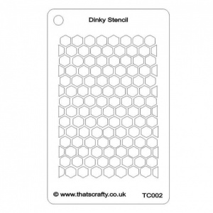 That's Crafty! Dinky Stencil - Honeycomb Background - TC002