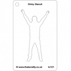 That's Crafty! Dinky Stencil - Jumping Man - TC101