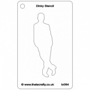 That's Crafty! Dinky Stencil - Leaning Man - TC084