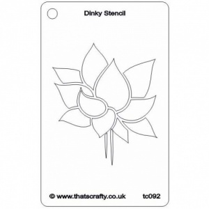 That's Crafty! Dinky Stencil - Lotus Flower - TC092