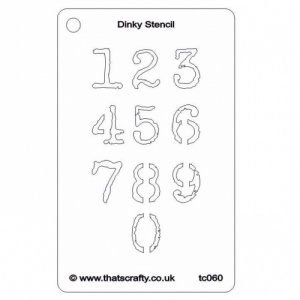 That's Crafty! Dinky Stencil - Numbers - TC060