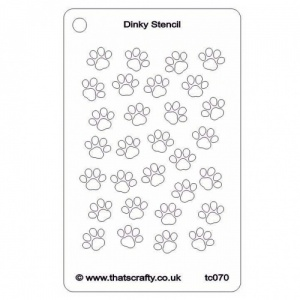 That's Crafty! Dinky Stencil - Paw Prints - TC070