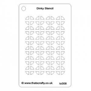 That's Crafty! Dinky Stencil - Quarter Circles Background - TC008