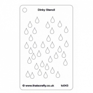 That's Crafty! Dinky Stencil - Raindrops Background - TC043