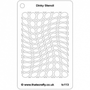 That's Crafty! Dinky Stencil - Random Ovals - TC113