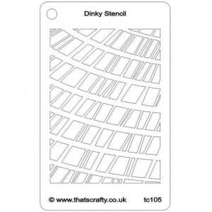 That's Crafty! Dinky Stencil - Random Rectangles - TC105