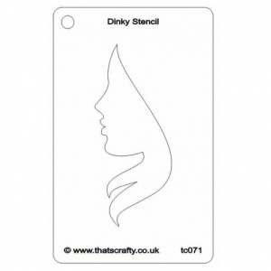 That's Crafty! Dinky Stencil - Silhouette Face 1 - TC071