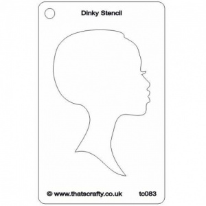 That's Crafty! Dinky Stencil - Silhouette Face 2 - TC083