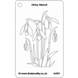 That's Crafty! Dinky Stencil - Snowdrops - TC091