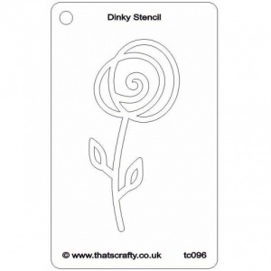 That's Crafty! Dinky Stencil - Spiral Flower - TC096
