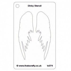 That's Crafty! Dinky Stencil - Wings - TC074