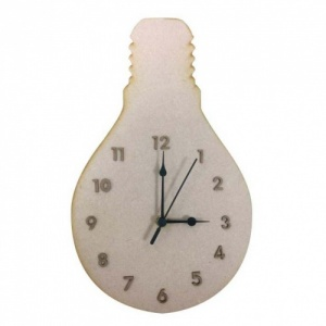 That's Crafty! Surfaces MDF Clock - Light Bulb