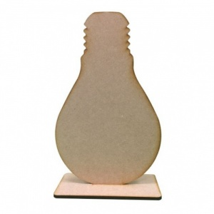 That's Crafty! Surfaces MDF Uprights - Light Bulb - Pack of 5