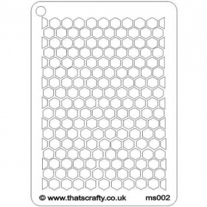 That's Crafty! Mini Stencil - Honeycomb - MS002