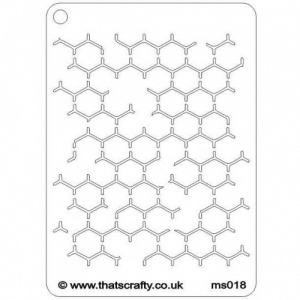 That's Crafty! Mini Stencil - Reverse Honeycomb - MS018