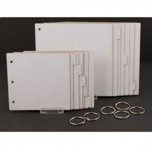 That's Crafty! Surfaces Set of 2 White/Greyboard Journals - 8x8 and 6x6