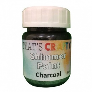 That's Crafty! Shimmer Paint - Charcoal