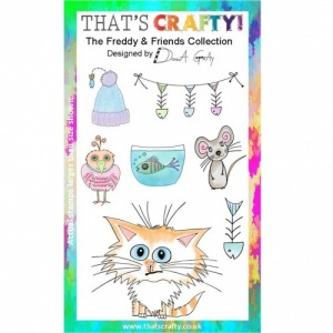 That's Crafty! Clear Stamp Set - The Freddy & Friends Collection