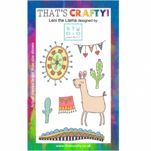 That's Crafty! Clear Stamp Set - Leni the Llama
