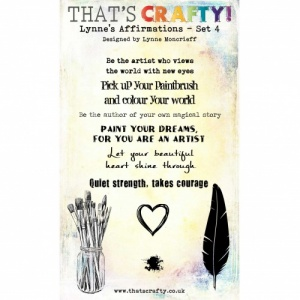 That's Crafty! Clear Stamp Set - Lynne's Affirmations - Set 4
