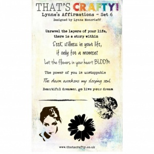 That's Crafty! Clear Stamp Set - Lynne's Affirmations - Set 6