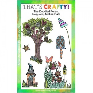 That's Crafty! Clear Stamp Set - The Doodled Forest